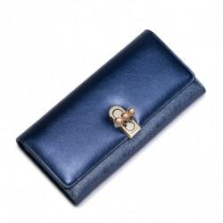 NUCELLE Elektryzujący damski portfel Niebieski