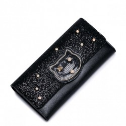 JUST STAR Piękny zgrabny portfel Czarny