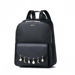 Plecak z wiszącymi ozdobami Czarny