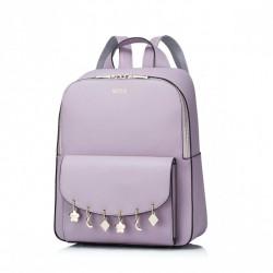 Plecak z wiszącymi ozdobami Purpurowy