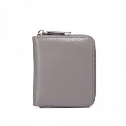 Zgrabny elegancki portfel Szary