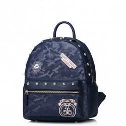 Dziewczęcy plecak z ekologicznej skóry Niebieski