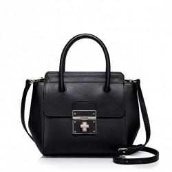 Geometryczna damska torebka do ręki Czarna