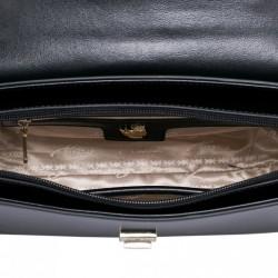 Modna damska torebka z naturalnej skóry Jasnoniebieska