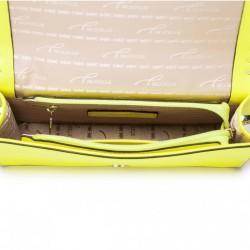 NUCELLE Długi skórzany damski portfel Różowy