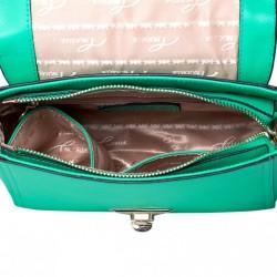 Stylowy podłużny damski portfel Zielony