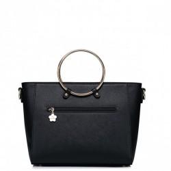 Elegancki krótki damski portfel Różowy