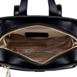 NUCELLE  Długi skórzany damski portfel Czarny