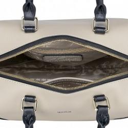 Niewielka damska torebka na ramię z naturalnej skóry Ecru