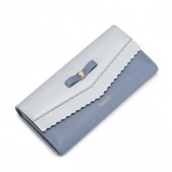 NUCELLE Długi portfel z perełką Jasnoniebieski