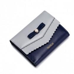 NUCELLE Krótki portfel z perełką Niebieski
