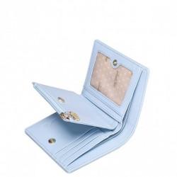Modny dwukolorowy damski portfel Niebieski
