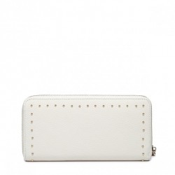Krótki damski portfel ze zdobieniami  Czarny