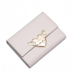 NUCELLE Krótki portfel złote serce delikatny róż