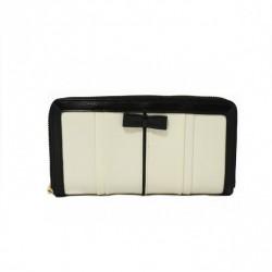 Klasyczny portfel z kokardką Ecru