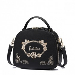 Damska torebka do ręki z dodatkową kieszonką Czarna