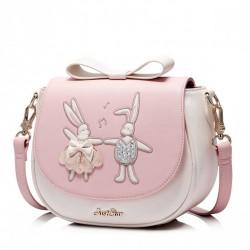 Prosta damska torebka na ramię Różowa