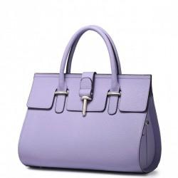 Elegancka damska torebka do ręki Purpurowa