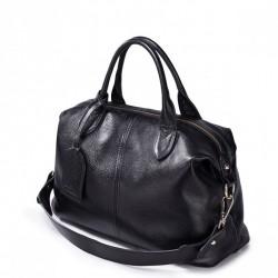 Modna damska torebka z naturalnej skóry Czarna