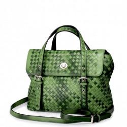 Wyszywana damska torebka do ręki Zielona
