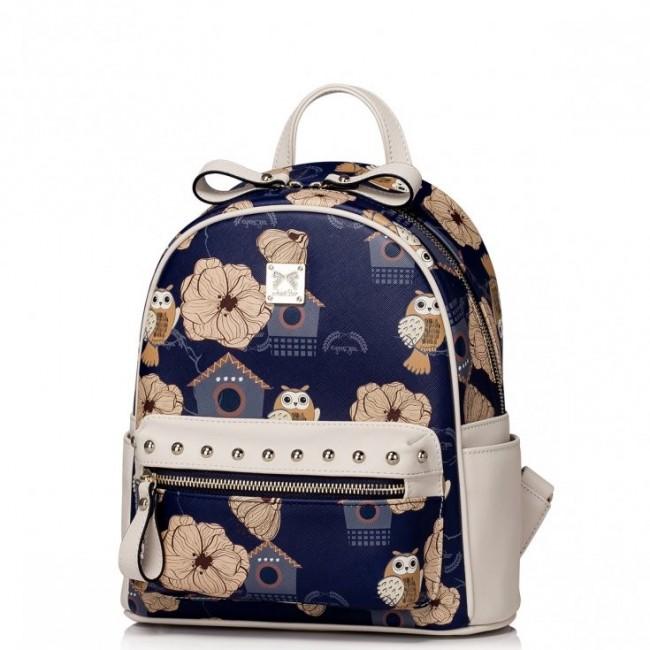 JUST STAR Dziewczęcy plecak z wzorem Niebieski