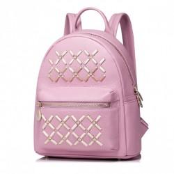 NUCELLE Modny i stylowy damski plecak Różowy