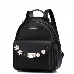 Dziewczęcy plecak z wiosennej kolekcji Czarny