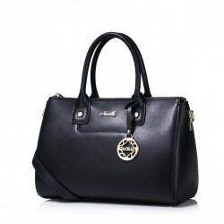 Luksusowa damska torebka w stylu bostońskim Czarna