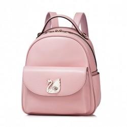 NUCELLE Jednolity klasyczny plecak Różowy