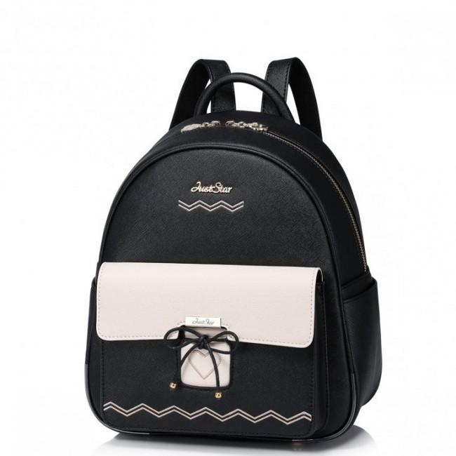 Piękny plecak z serduszkiem Czarny