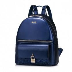 NUCELLE Stylowy plecak z połyskiem Niebieski
