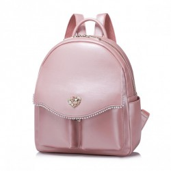 NUCELLE Perłowy plecak Różowy