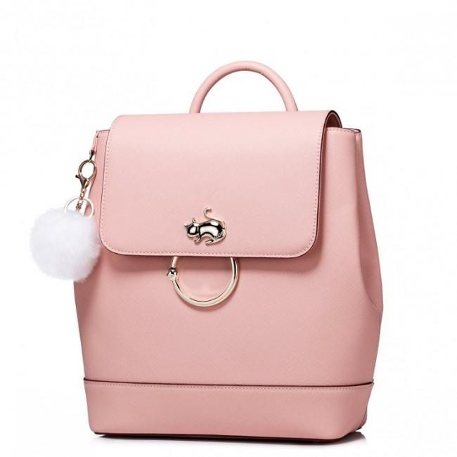 JUST STAR Słodki plecak z pomponem Różowy