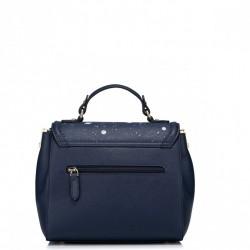 NUCELLE Klasyczna i elegancka damska torebka  Niebieska