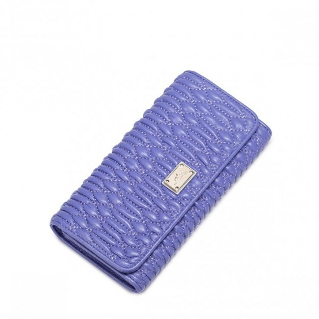 NUCELLE Długi damski portfel Purpurowy