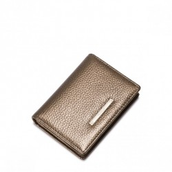 Niewielki damski portfel Złoty