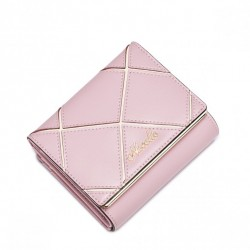 NUCELLE  Krótki damski portfel na zatrzask Różowy