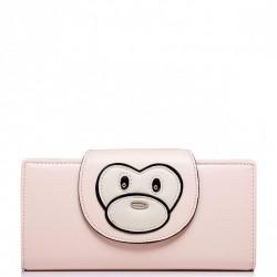 Podłużny dziewczęcy portfel z wzorem Różowy