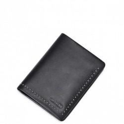 Stylowy krótki męski portfel Czarny