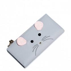 JUST STAR Długi portfel z myszką Szary