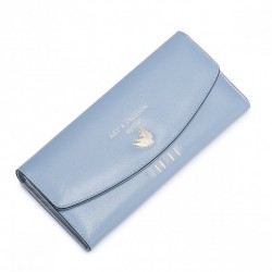 NUCELLE Długi uroczy portfel Niebieski