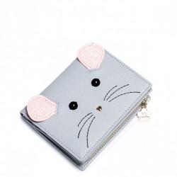 JUST STAR Krótki portfel z myszką Szary