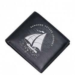 SAMMONS Krótki portfel z łódką Czarny