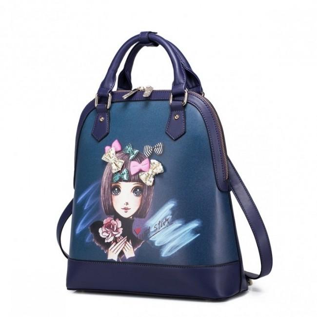 JUST STAR Plecak z rysunkowym motywem Niebieski