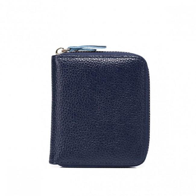 Zgrabny elegancki portfel Granatowy
