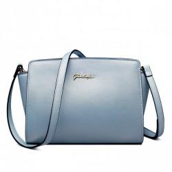 Delikatnie połyskująca torebka na ramię Jasnoniebieska