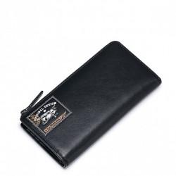 SAMMONS Długi gustowny portfel Czarny