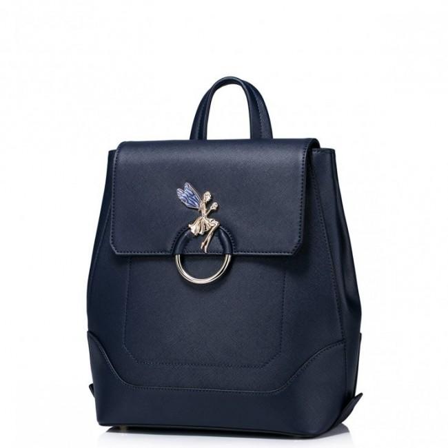 Pojemny dziewczęcy plecak z wróżką Niebieski