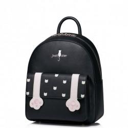 Dziewczęcy plecak z kocimi łapami Czarny