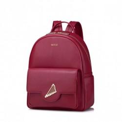 Damski plecak z motywem muzycznym Czerwony